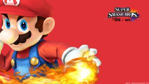 Mario |Wallpaper| Super Smash Bros. Wii U/3DS by Gibarrar