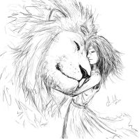 Sketching The Lion and the Girl by ACutulli
