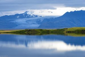 Glacier Reflection by Dave-Derbis
