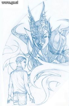 LK Crown Of Shadows 4v pencils by GabrielRodriguez