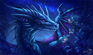 Night dragon by FlashW
