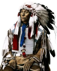 Drawing a Native American by Heatherrooney
