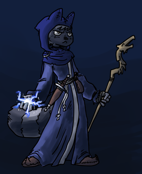 I put on my robe and wizard hat by ben-hurr