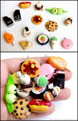 Food Charms by PepperTreeArt