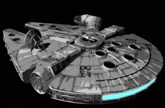 Star Wars Millennium Falcon Paint By Number Kit by numberedart