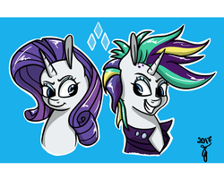 The Two Faces Of Rarity by HerderoArts