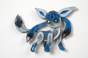 Pokemon Paper Quilling Art 471 Glaceon by wholedwarf