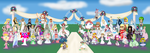 Collab - Nintendo Girl Wedding Party by DragonKazooie89