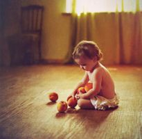 Girl with Peaches by Daizy-M