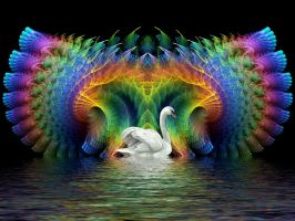 Swan Lake Fractal. by Thelma1