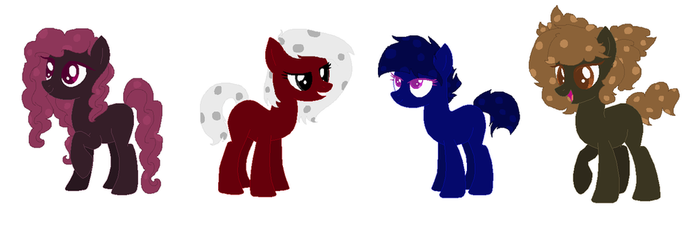 Polka Dots Ponies Adopts~ [OPEN] by MeowWoofOink