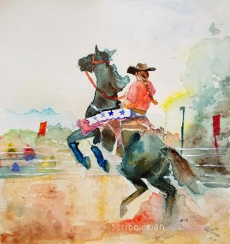 Rodeo by scribblerian