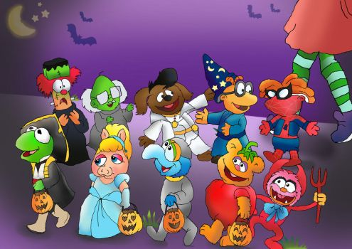 Muppet babies Trick-or-treating by raggyrabbit94