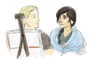 Painting with Katniss by librachik