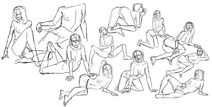 Figure Sketches Nw2 by ifesinachi