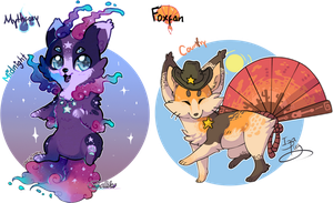 Mythfoxy and Foxfan Auction // CLOSED! by Belliko-art
