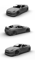 Nissan GTR Rework WIP 3 by gbpackers