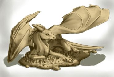 Clay dragon model by rah-bop