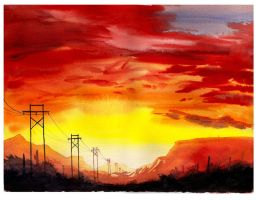 Power Lines by CheshFire