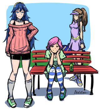 ssb4 girls in the park by akairiot