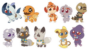 Chibis of Rivalry 2 by Yakalentos