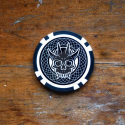 Oni Playing Cards :: Life or Death Chip by hobogonemad