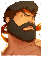 Street Fighter V-Bearded Ryu by HeavyMetalHanzo