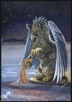 Gryphon Tarot - Temperance by silvermoonnw