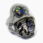 Steampunk Ring Opal and Movement by CatherinetteRings