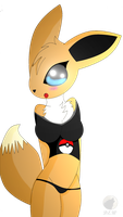 .:Commission:. eevee girl :3 by DreamEclipseWolf