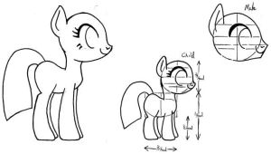 My Little Filly Study by Inkwell-Pony