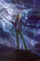 Commission: Lightning wizard by R-Aters