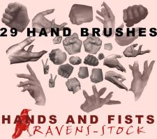 Hands and Fists brushes by Ravens-Stock