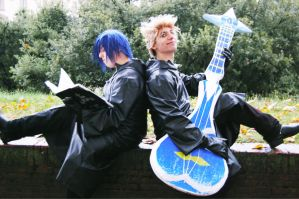 Zexion and Demyx by Sommum