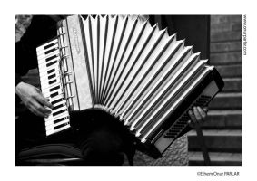 Accordion and Stairs by onurparlar