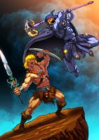 He Man V S Skeletor by xong