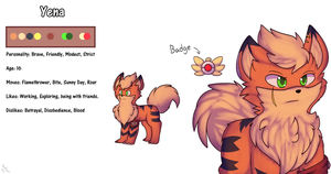 Yena the Growlithe by Xael-The-Artist