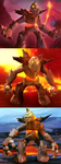 Fire Golem - compositions by gagaman92
