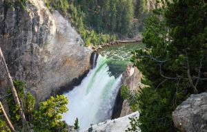 Waterfall in Yellowstone by Mana-C-E