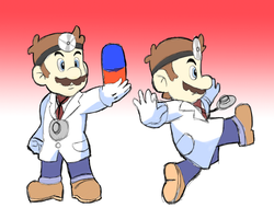 Smash Bros: Dr. Mario by RamyunKing