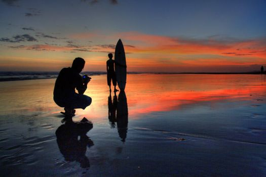 Surf and Photographer by chdelont