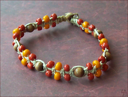 Autumn Leaves Bracelet by SalamenceClaws