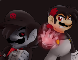 Gift: Vortex and Evil mario by raygirl12
