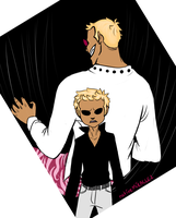 OP: Doflamingo (Then and Now) by Kavtanical-Garden
