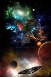 Beyond Space and Time Fractal Art by xzendor7