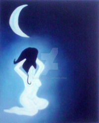 Femme Lune - Moonlighted woman by Kriseis