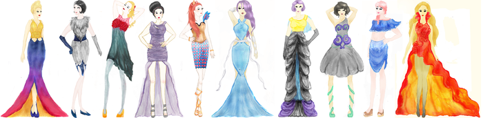 Pokemon Fashion Design by Abbysaurus