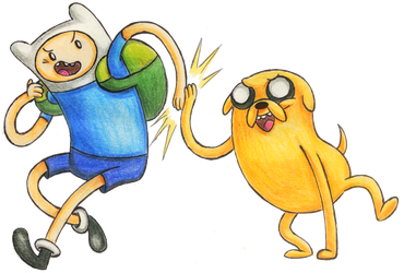 Finn and Jake by QueenChinchilla187