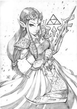 Princess Zelda by Smolb