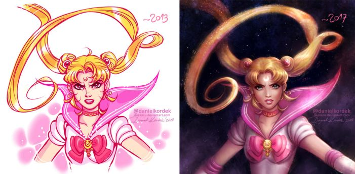 Sailor Moon: Old vs New by daekazu